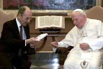 Σας περιμένω στην Αθήνα, είπε ο Στεφανόπουλος στον Πάπα