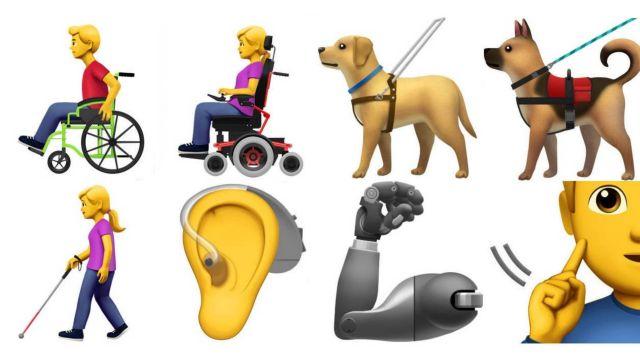 Νέα emoji για άτομα με αναπηρία