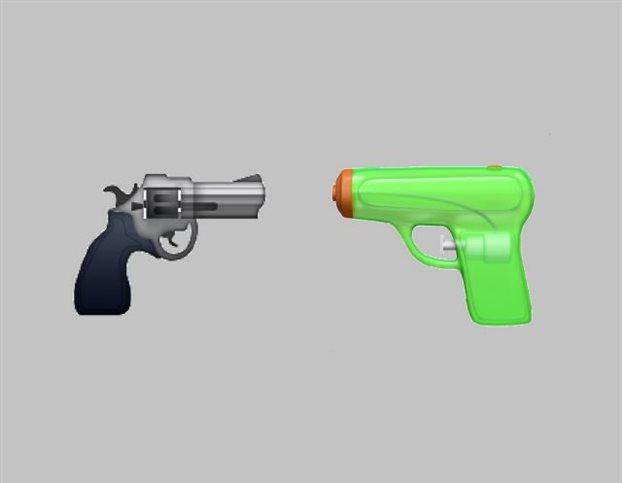 «Όχι» στην οπλοκατοχή – Αλλάζει το emoji πιστόλι σε νεροπίστολο