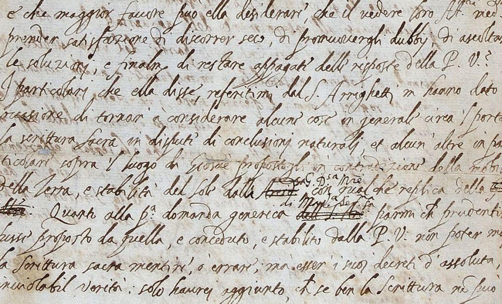 Στο φως η πρώτη «αιρετική» επιστολή του Γαλιλαίου