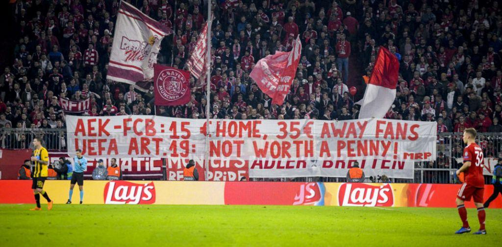 Καταγγελία οπαδών της Μπάγερν κατά της ΑΕΚ για τα εισιτήρια