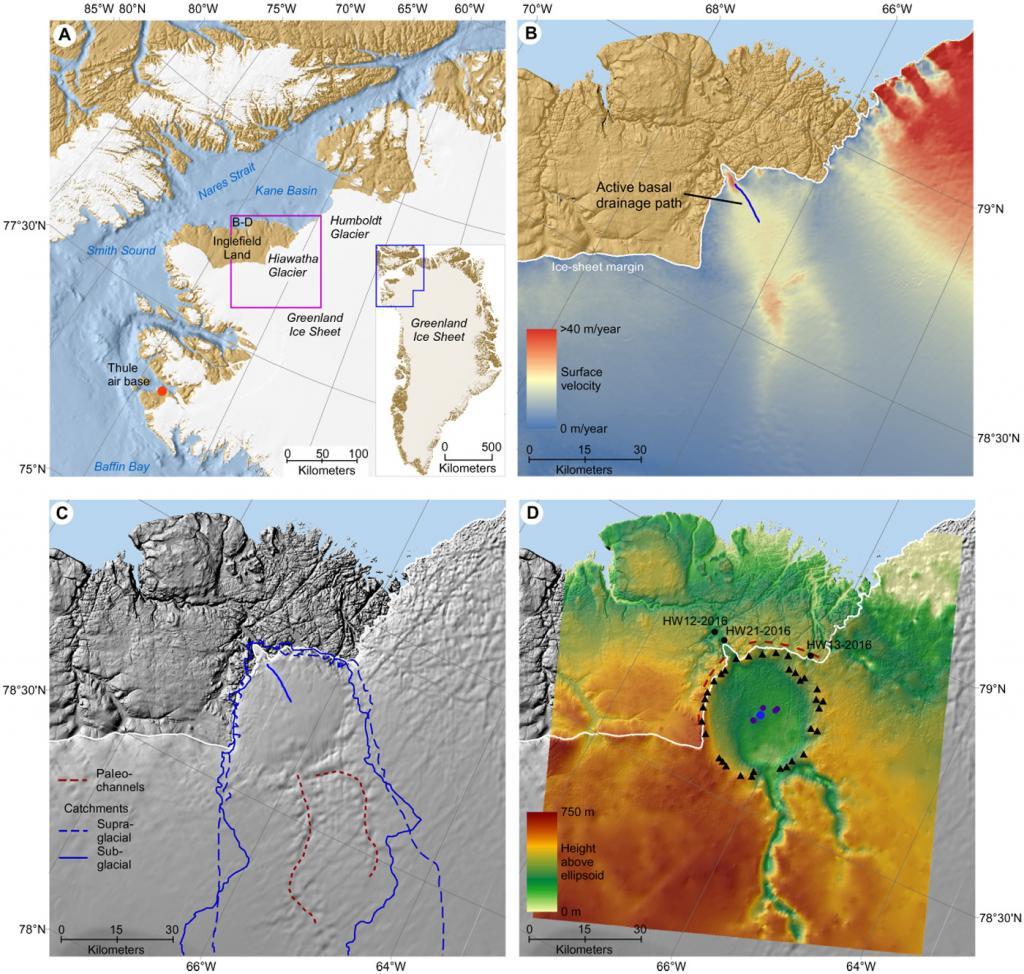 Τεράστιος κρατήρας κάτω από τους πάγους της Γροιλανδίας