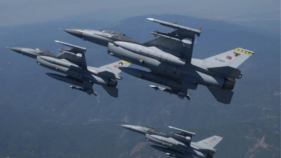 Νέο μπαράζ 35 παραβιάσεων στο Αιγαίο από τουρκικά αεροσκάφη