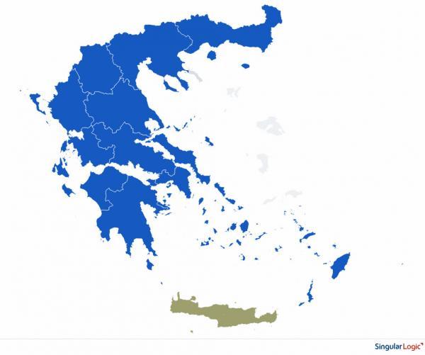 Γαλάζιος ο εκλογικός χάρτης της χώρας – Ηχηρό «χαστούκι» των πολιτών στον ΣΥΡΙΖΑ | in.gr