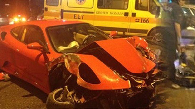 Αποτέλεσμα εικόνας για Τραγικό: Ο Ζαχαριάς σώθηκε από θαύμα σε άλλο τροχαίο το 2014 με Ferrari