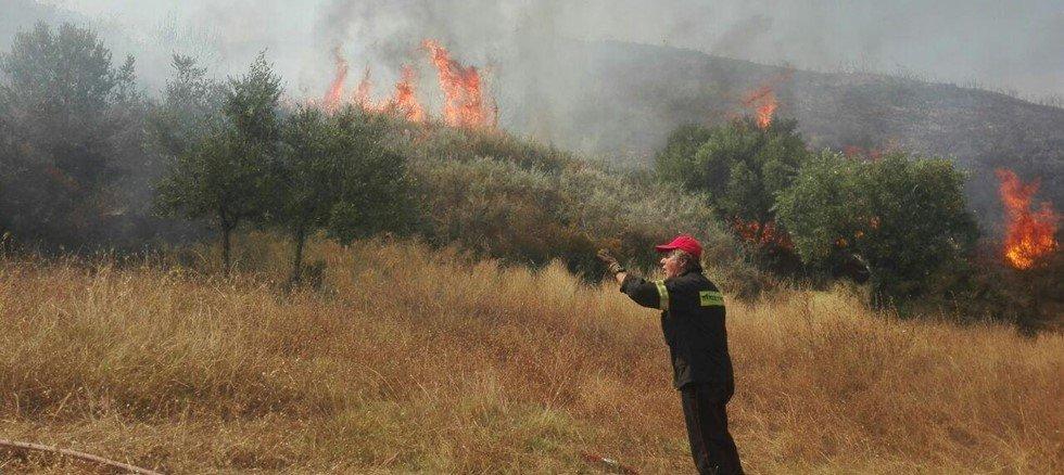 Φωτιά σε εξέλιξη στη Ζάκυνθο