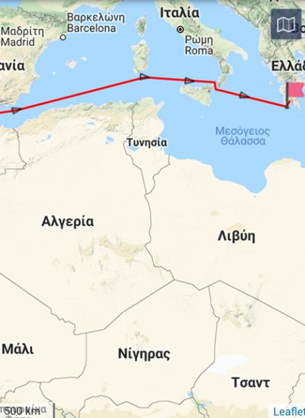 Grace-1: Προς Καλαμάτα κατευθύνεται το ιρανικό δεξαμενόπλοιο από το Γιβραλτάρ 2
