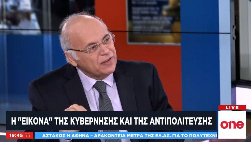 Ο επικοινωνιολόγος Γ. Μανωλάκος στο One Channel: Η εικόνα της κυβέρνησης και της αντιπολίτευσης