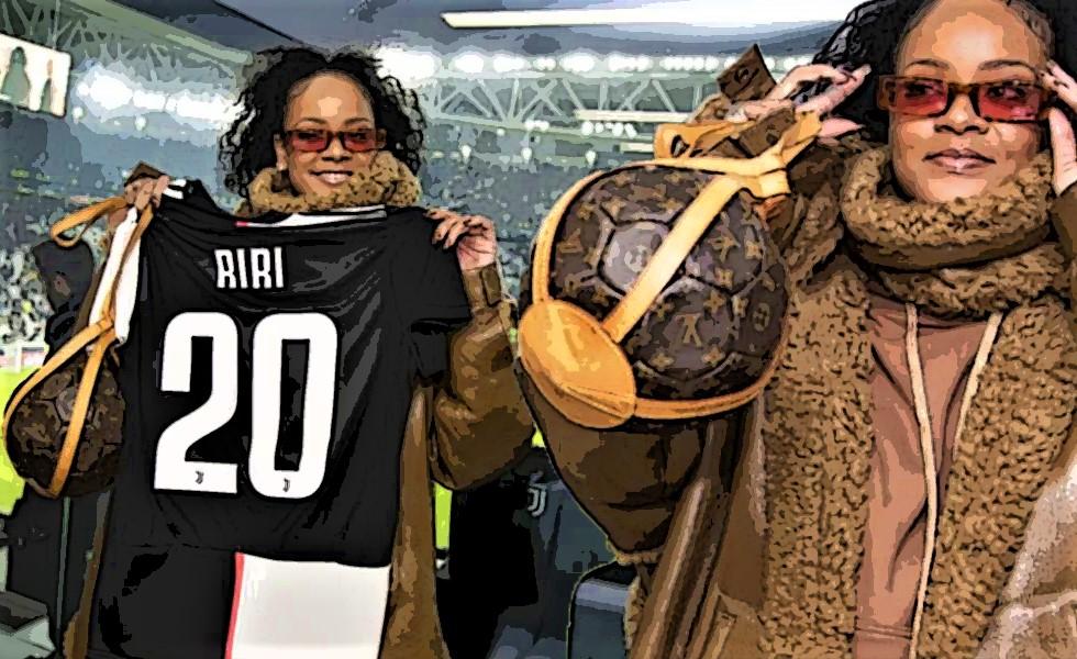 «Τρέλανε» το Τορίνο η Ριάνα: Είδε CR7 με τσάντα – μπάλα αξίας 2000 δολαρίων! (pics+vids)