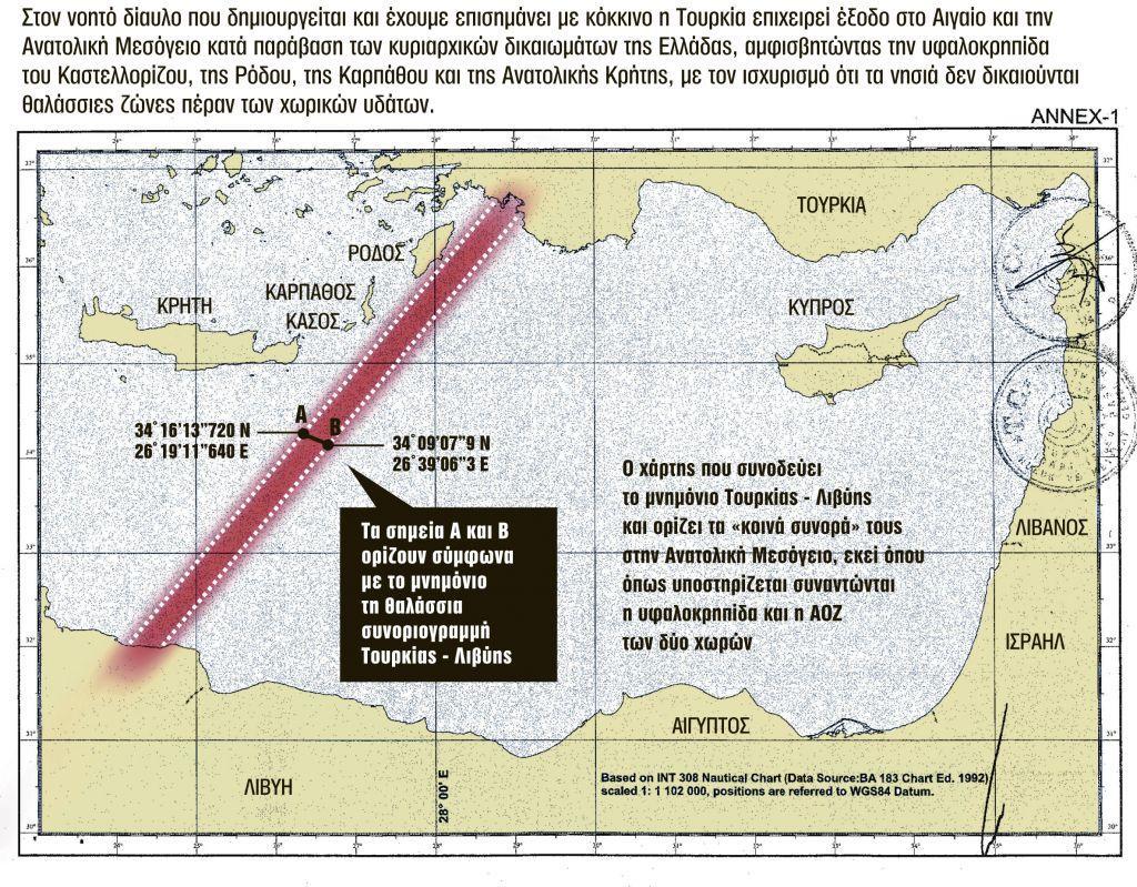 Λιβύη – Τουρκία: Γιατί η συμφωνία που υπέγραψαν δεν μπορεί να σταθεί νομικά