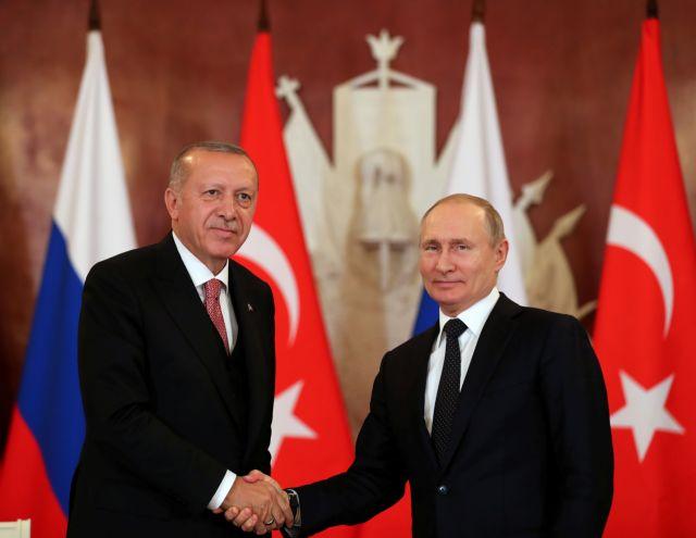 Πούτιν και Ερντογάν εγκαινιάζουν τον Turkish Stream – Συνομιλίες για Λιβύη και Συρία
