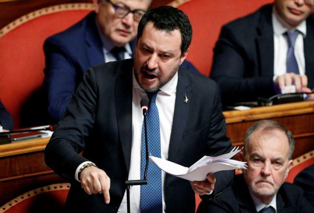 Ιταλία : «Ναι» από τη Γερουσία σε παραπομπή του Σαλβίνι σε δίκη