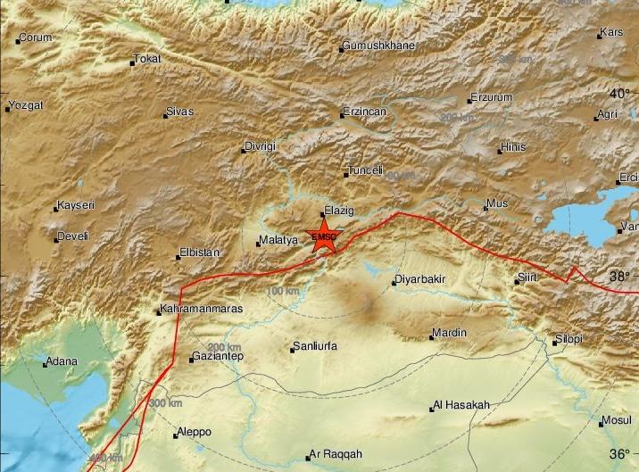 Σεισμός τώρα στο Ελαζίγ της Τουρκίας – Ξύπνησαν εφιαλτικές μνήμες