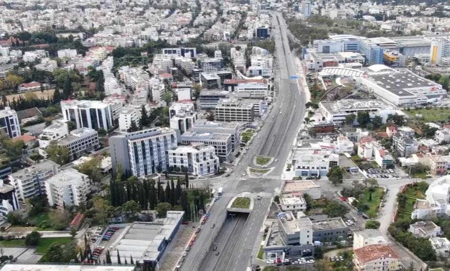 Κοροναϊός : Η έρημη Αθήνα από ψηλά – Απίστευτες εικόνες από drone