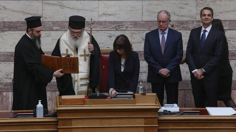 Ekaterini Sakellaropoulos was sworn in today as president of the Hellenic Republic.