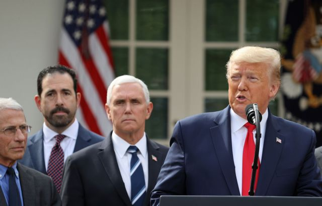 Οι ΗΠΑ σε κατάσταση έκτακτης ανάγκης λόγω κοροναϊού -Διάγγελμα Τραμπ | in.gr