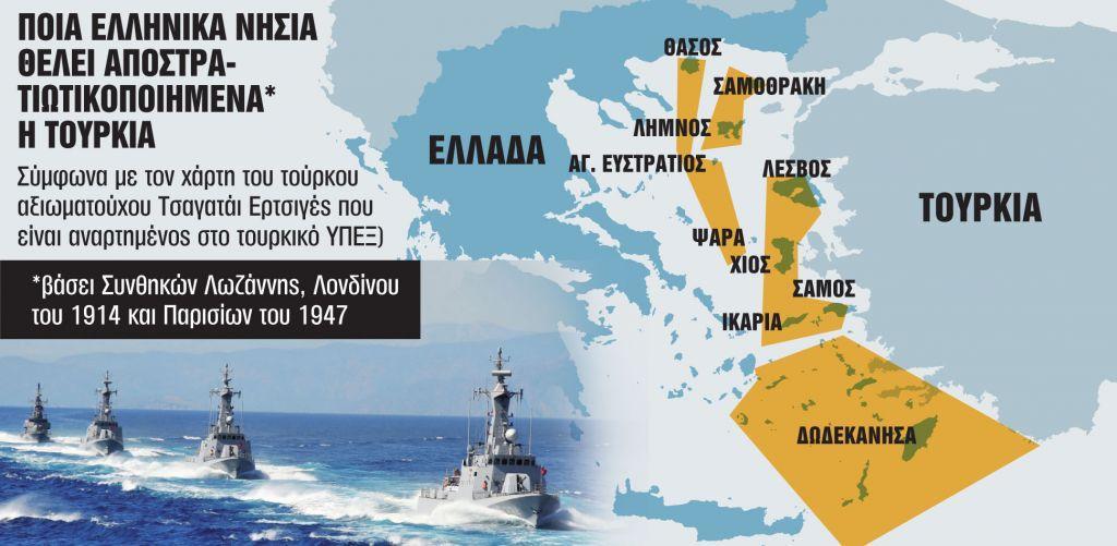 Γιατί η Τουρκία ανακινεί ζήτημα αποστρατιωτικοποίησης των νησιών του Αιγαίου | in.gr