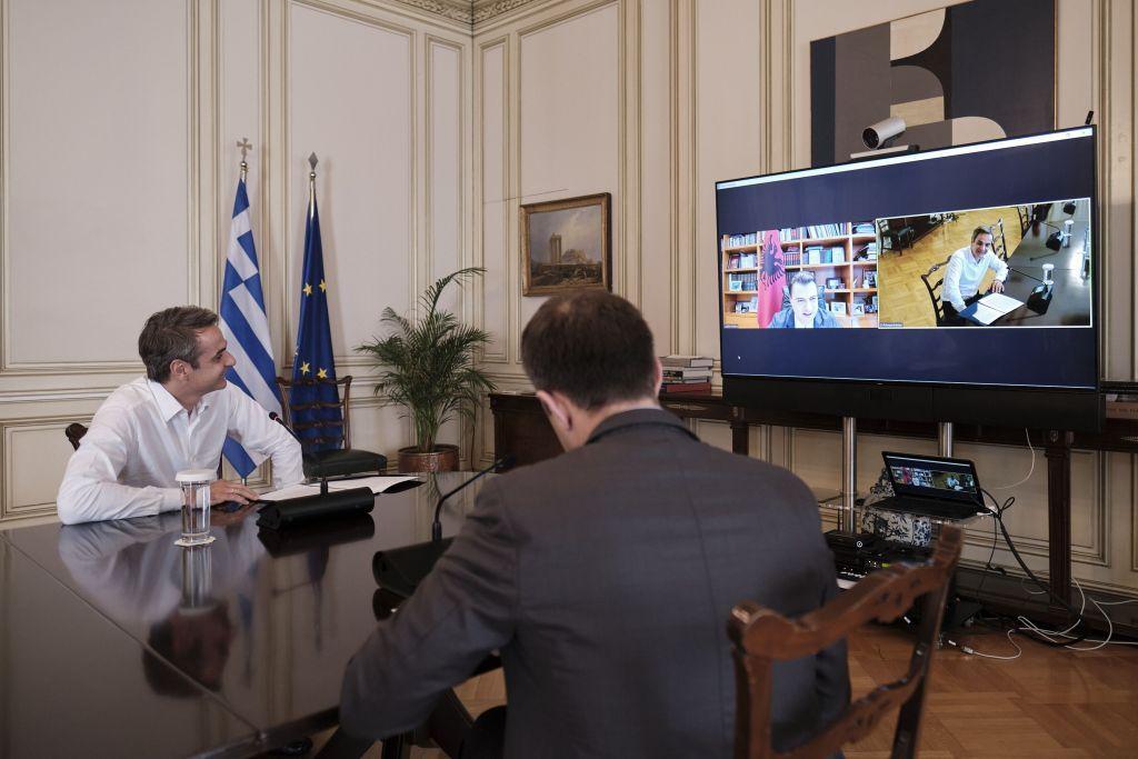Τηλεδιάσκεψη Μητσοτάκη με τον αρχηγό της Αλβανικής αντιπολίτευσης – Τι είπαν για τη μειονότητα | in.gr