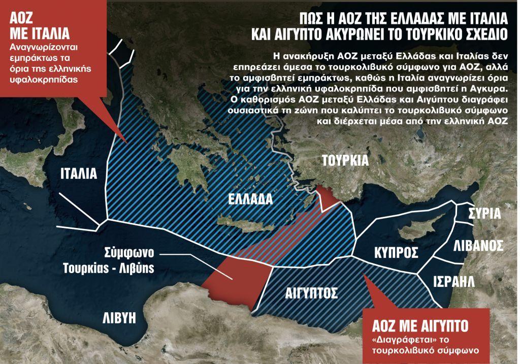 «Πατάει γκάζι» η Αθήνα για καθορισμό ΑΟΖ με Ιταλία και Αίγυπτο – Μήνυμα ισχύος από τον υπ. Άμυνας σε Τουρκία | in.gr