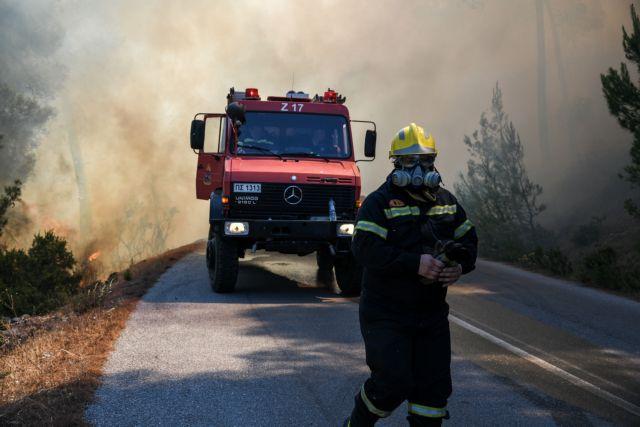 Οριοθετήθηκε η πυρκαγιά στην Κάρυστο Ευβοίας