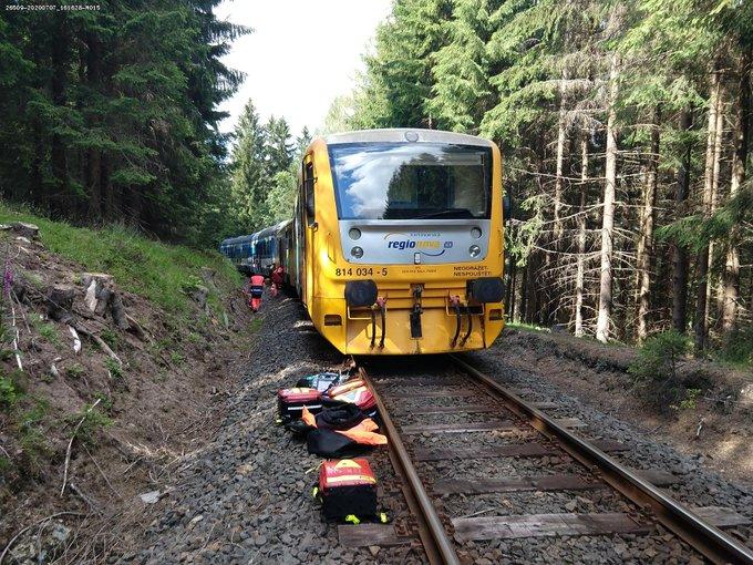 Τσεχία: Σύγκρουση τρένων με νεκρούς και τραυματίες [Εικόνες]