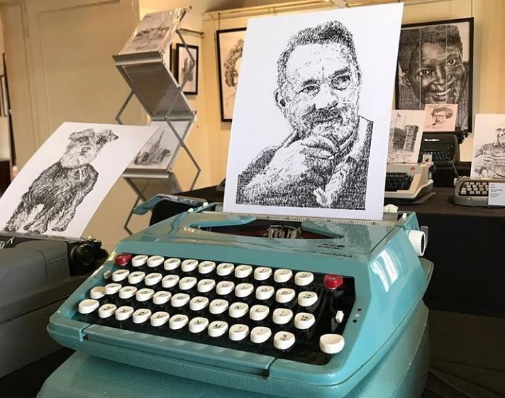 Εντυπωσιακά έργα ζωγραφικής με γραφομηχανή