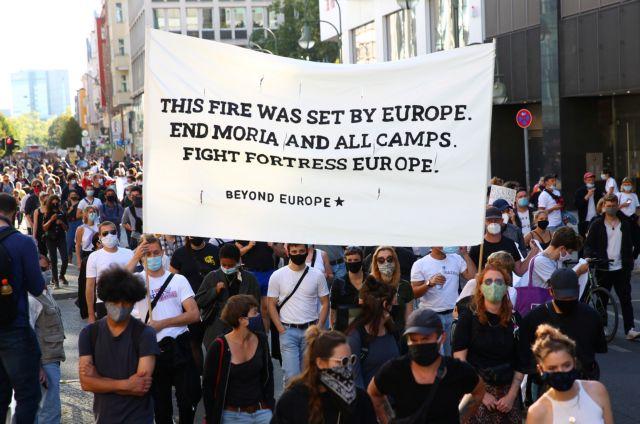 Διαδηλώσεις σε όλη τη Γερμανία υπέρ της υποδοχής προσφύγων από τη Λέσβο