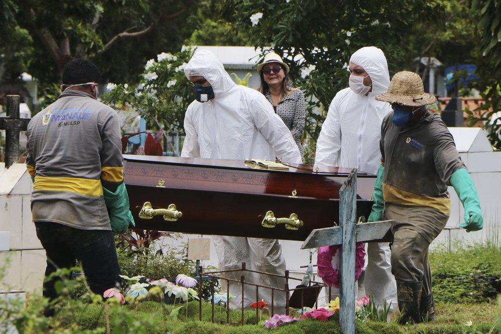 Βραζιλία : Αλλοι 829 νεκροί το τελευταίο 24ωρο – 134.106 θάνατοι συνολικά