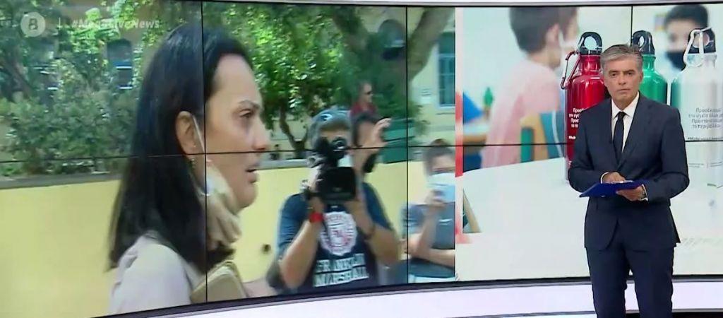 Η μητέρα που κατηγορείται ότι υποκίνησε κατάληψη για τις μάσκες σε σχολείο μιλά στο MEGA