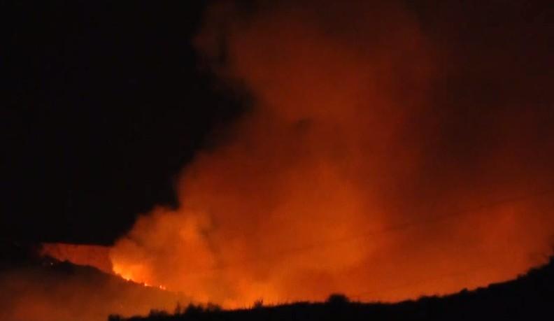 Πάτρα : Καλύτερη η εικόνα της πυρκαγιάς