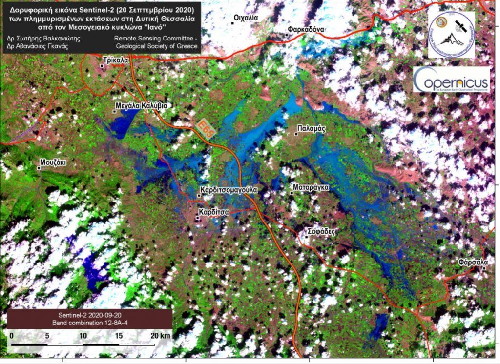Απίστευτη η καταστροφή από τον «Ιανό»: Λίμνη 200.000 στρεμμάτων στη Θεσσαλία