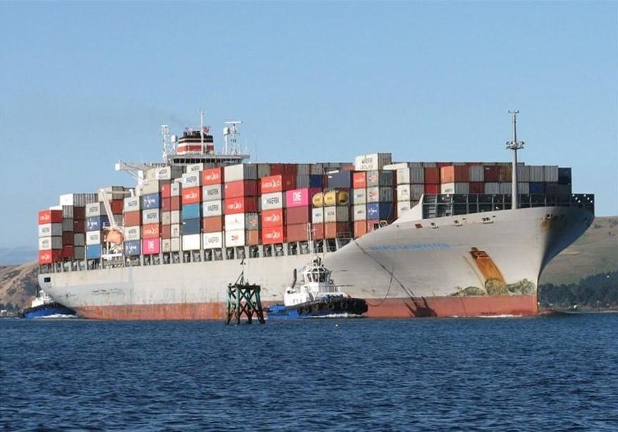 Σύγκρουση πλοίων στον Πειραιά : Το μεγαθήριο Maersk Launceston που συγκρούστηκε με το «Καλλιστώ»
