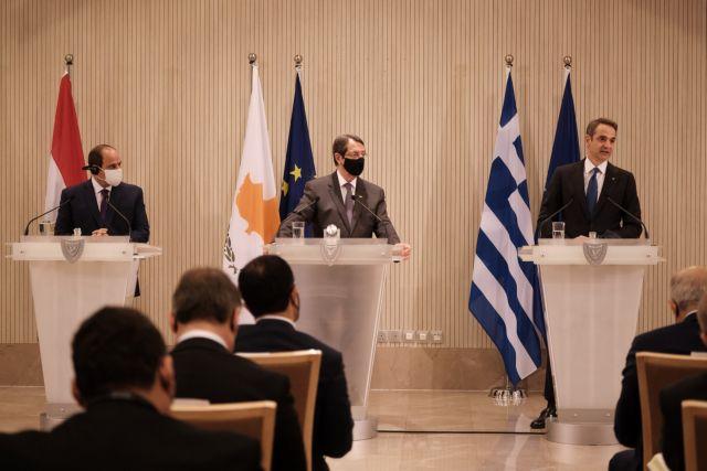 Τριμερής : Κοινή διακήρυξη και καταδίκη των τουρκικών προκλήσεων στην Αν. Μεσόγειο