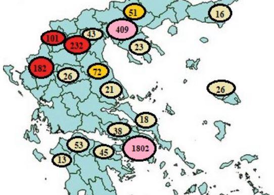 Κοροναϊός : Ποιες περιοχές σαρώνει η πανδημία – «Ορφανά» 6 στα 10 κρούσματα [χάρτης]