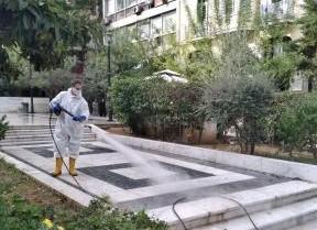 Κοροναϊός : Εντατικοποιούνται οι καθαρισμοί και οι απολυμάνσεις στο Δήμο Αθηναίων