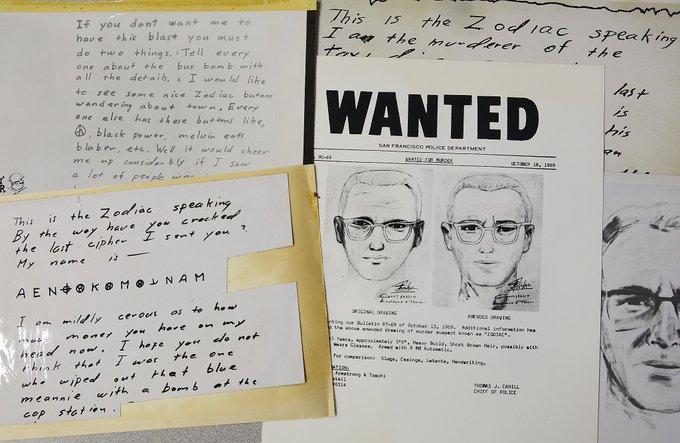ΗΠΑ : Μήνυμα του μυστηριώδους «Zodiac Killer» αποκρυπτογραφήθηκε 51 χρόνια αφού στάλθηκε
