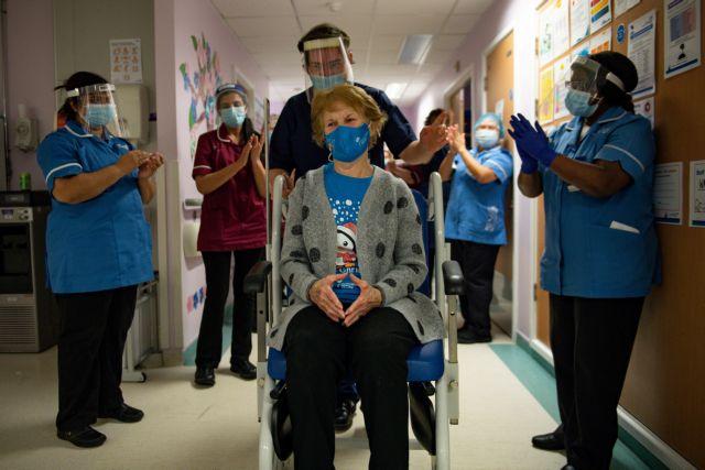 Κοροναϊός : H Mάργκαρετ Κίναν έγινε ο πρώτος άνθρωπος που εμβολιάστηκε με τη δεύτερη δόση