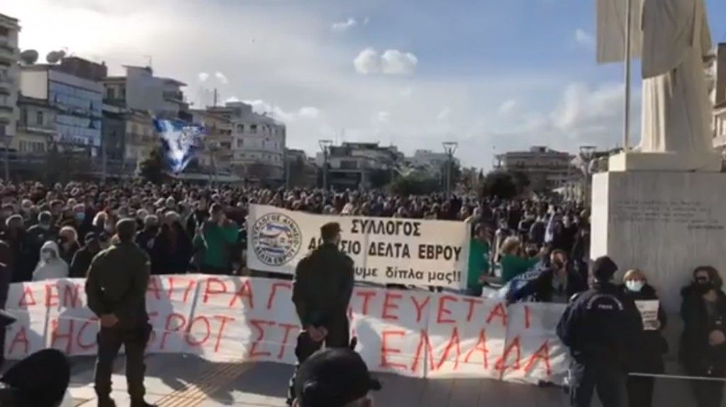 Έβρος : Ακροδεξιές ιαχές στην επίσκεψη Μηταράκη – Άγρια αποδοκιμασία