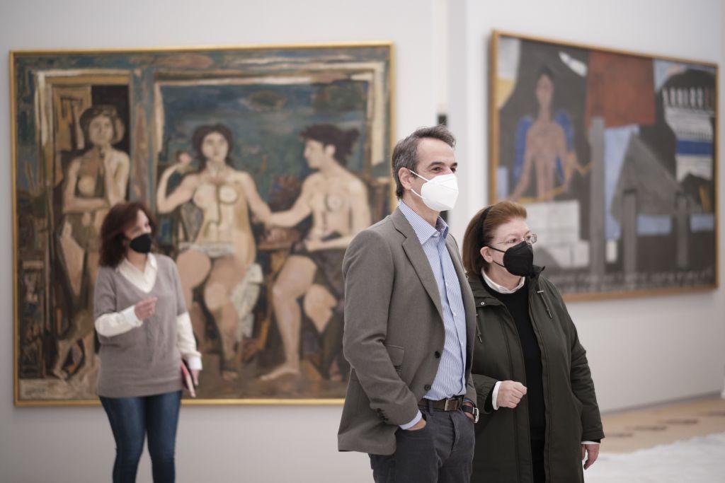 Επίσκεψη Μητσοτάκη στο ανακαινισμένο συγκρότημα της Εθνικής Πινακοθήκης