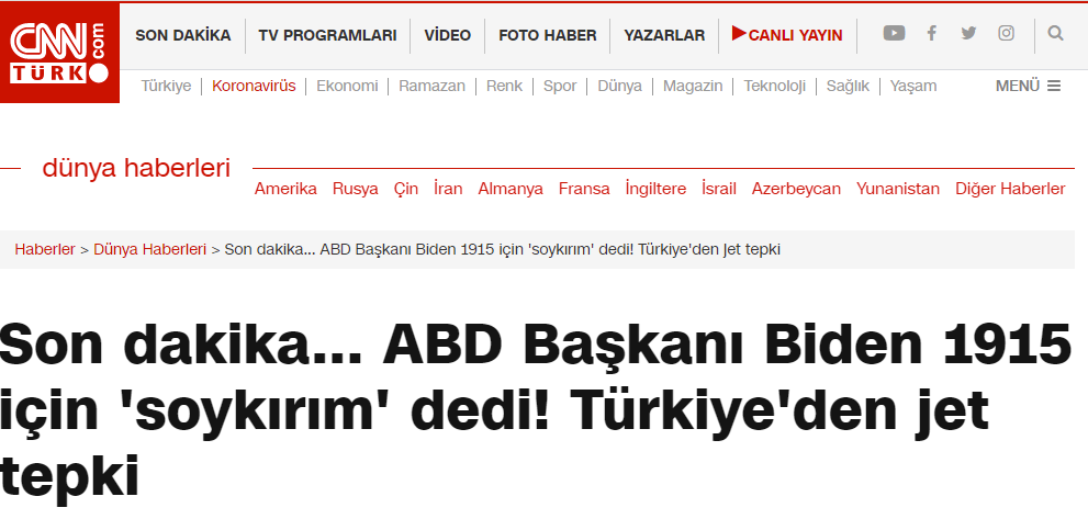 How Turkish media responded to Armenian Genocide recognition 6