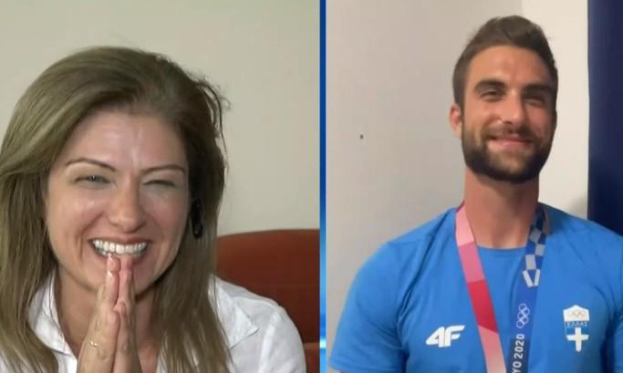 Συγκινητική στιγμή – Η συνάντηση του χρυσού Ολυμπιονίκη Στέφανου Ντούσκου με τη μητέρα του στον «αέρα»