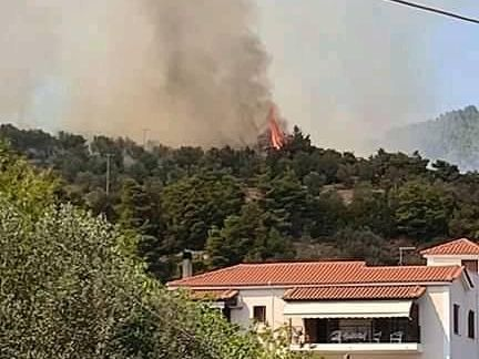Μεγάλη φωτιά στην Εύβοια, απειλούνται σπίτια – Πυρκαγιά και στην Επίδαυρο