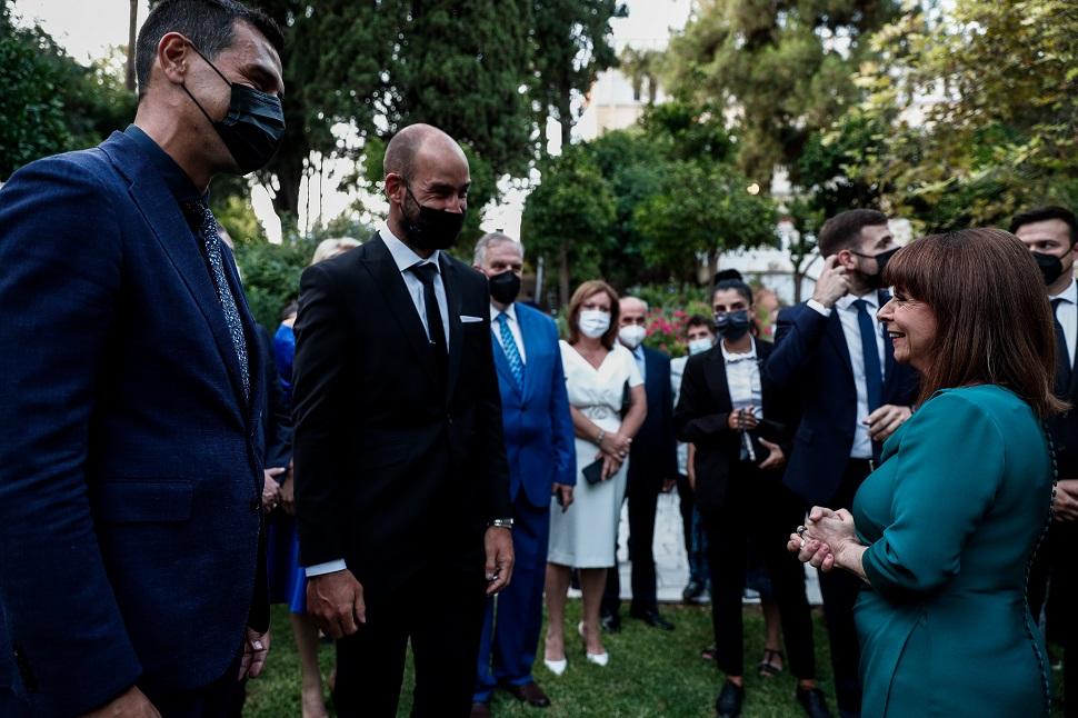 Σπανούλης και Ζήσης μαζί στο Προεδρικό Μέγαρο για τη γιορτή της Δημοκρατίας (pics)