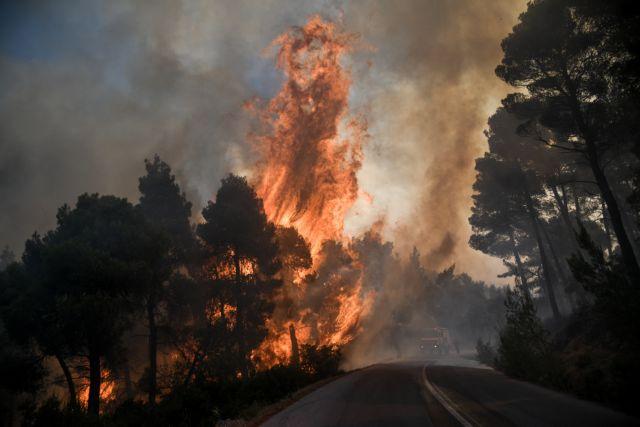 Πυρκαγιά στο Θύριο Αιτωλοακαρνανίας – Στη μάχη και το ρωσικό Beriev