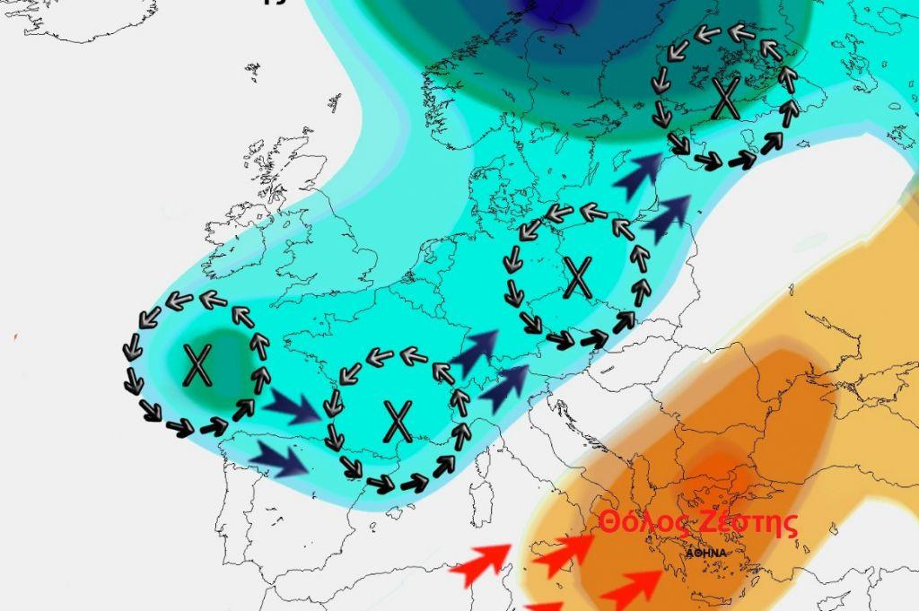 Καιρός: Έρχεται ακραίο «Ατμοσφαιρικό Μποτιλιάρισμα» με εκτεταμένο σχηματισμό «Θόλου Ζέστης»
