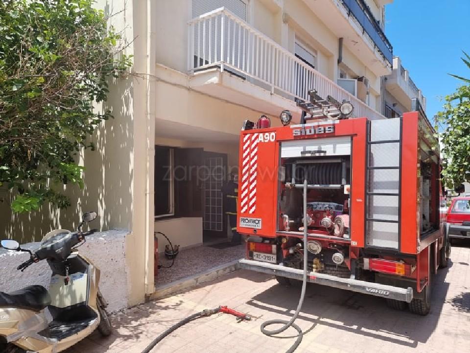 Χανιά: Διασώθηκε ηλικιωμένη μετά από φωτιά σε διαμέρισμα