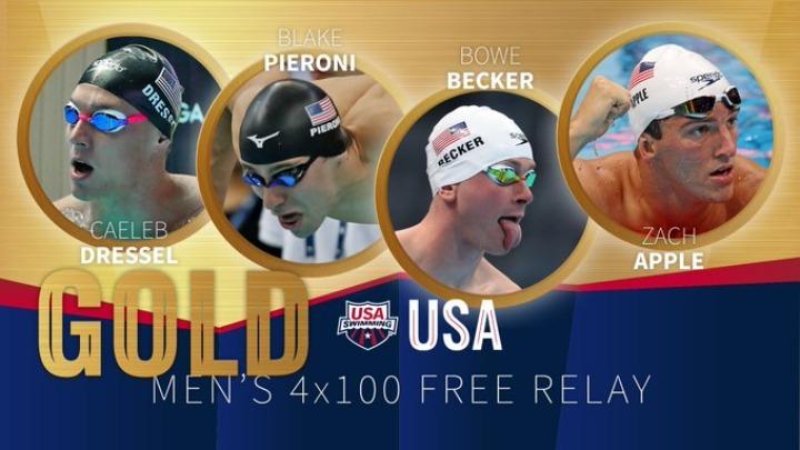 Οι ΗΠΑ το χρυσό στα 4Χ100 μ. ελεύθερο ανδρών