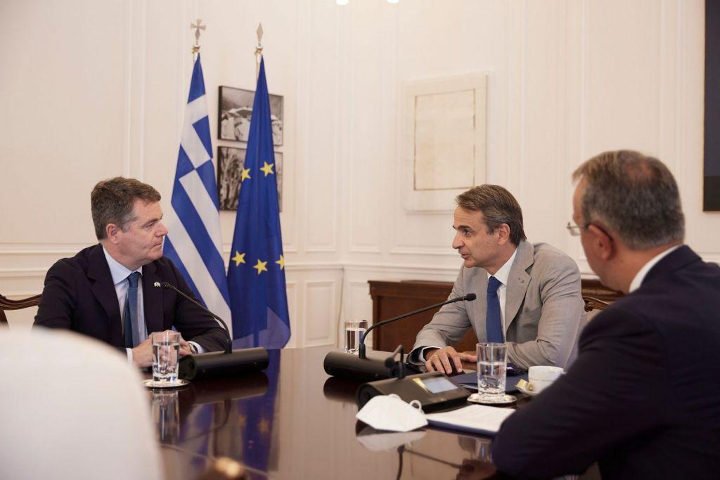 Μητσοτάκης σε πρόεδρο Eurogroup: Η ανάπτυξη να στηρίζεται στις εξαγωγές και όχι στην κατανάλωση