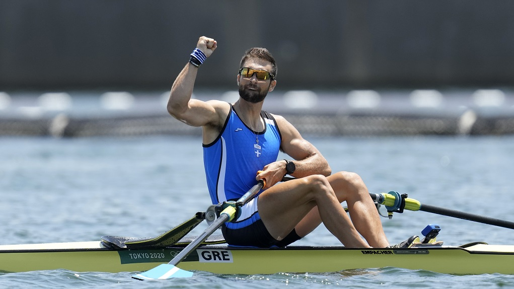 Rower Stefanos Ntouskos clinches Olympic gold medal for Greece, breaks Olympics record