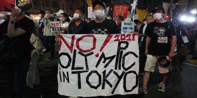 Ολυμπιακοί Αγώνες: Διαδήλωση ενάντια στη διεξαγωγή τους έξω από την τελετή έναρξης